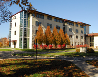 Fall scene of Living Learning Center-9