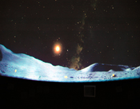 View of moon surface at planetarium-7