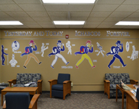 Ichabod mural in Mabee Library-5