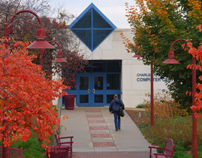 Bennett Computer Center in autumn-3