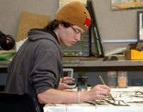 Student in painting lab-11