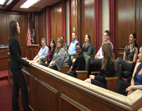 Jury in the Robinson courtroom at the School of Law-5