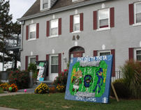 Homecoming decorations at Alpha Phi house-3