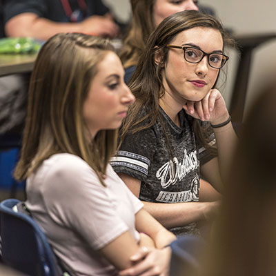 A Washburn student at Henderson Learning Center