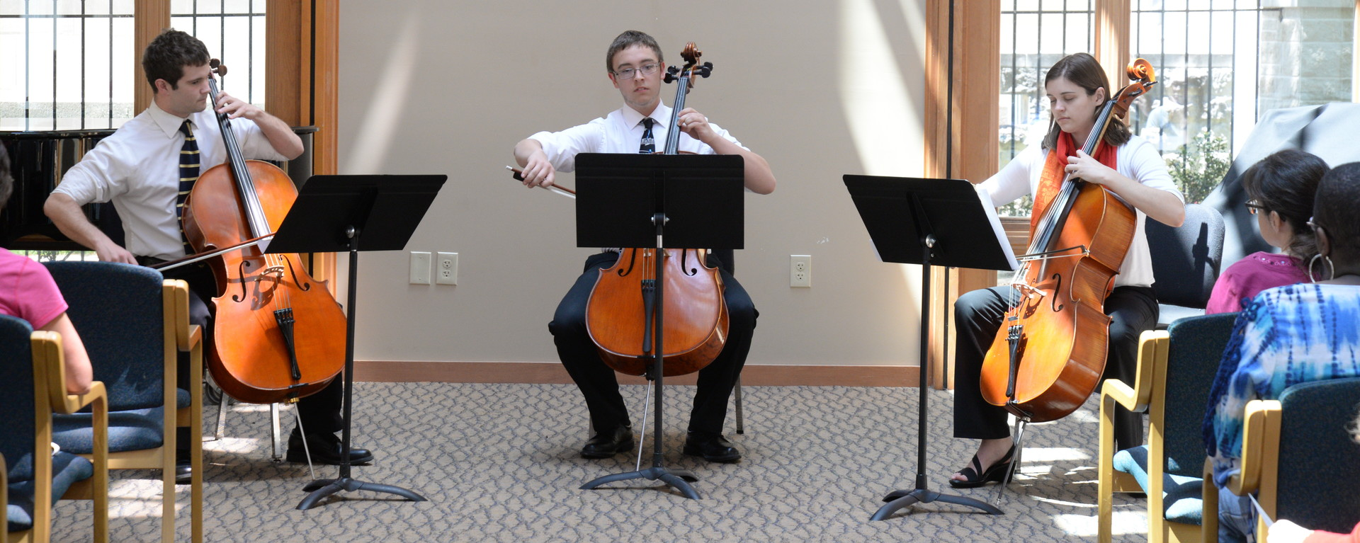 Group of Students Playing Cello in Carole Chapel