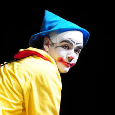 Theatre production photo from Elephants Graveyard showing a Clown