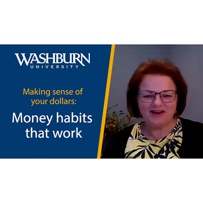 Video title card with Jamie McEwen. Making sense of your dollars: Money habits that work