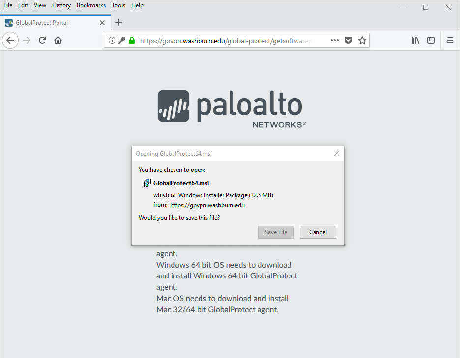 paloalto download save