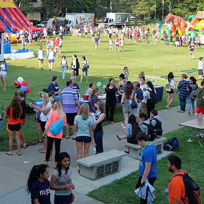 campus gathering during welcome week