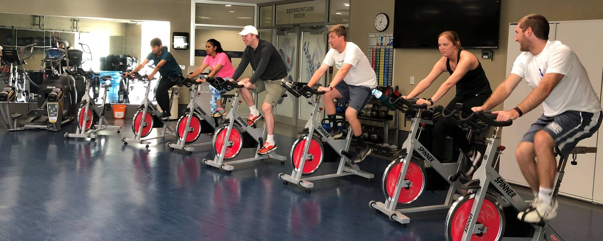 group cycling class