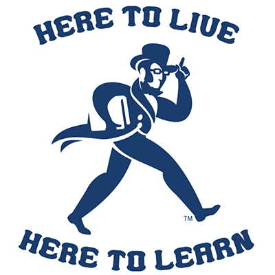 Here to live here to learn logo