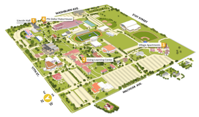 Overview image of campus map