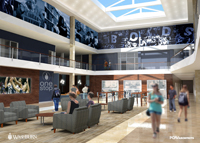 Rendering of Welcome Center atrium