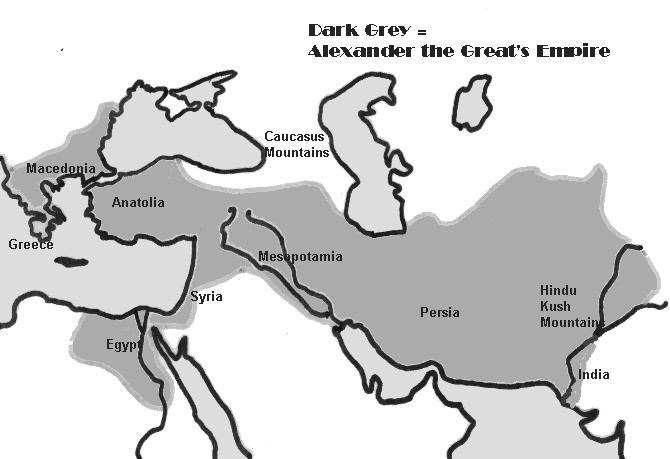 alexander the great empires outline maps
