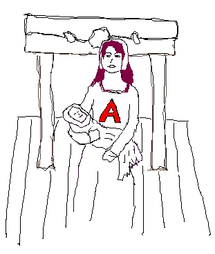 the scarlet letter puritans vs hester The letter a is a mark of punishment and humiliation however , hester prynne carries the symbol upon her with a very different out look than the puritans intended.