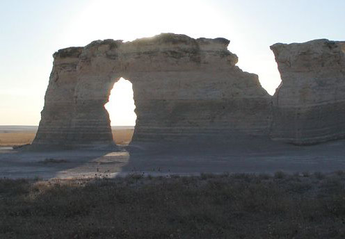 Monument Rocks Gove County Map Of Kansas Literature
